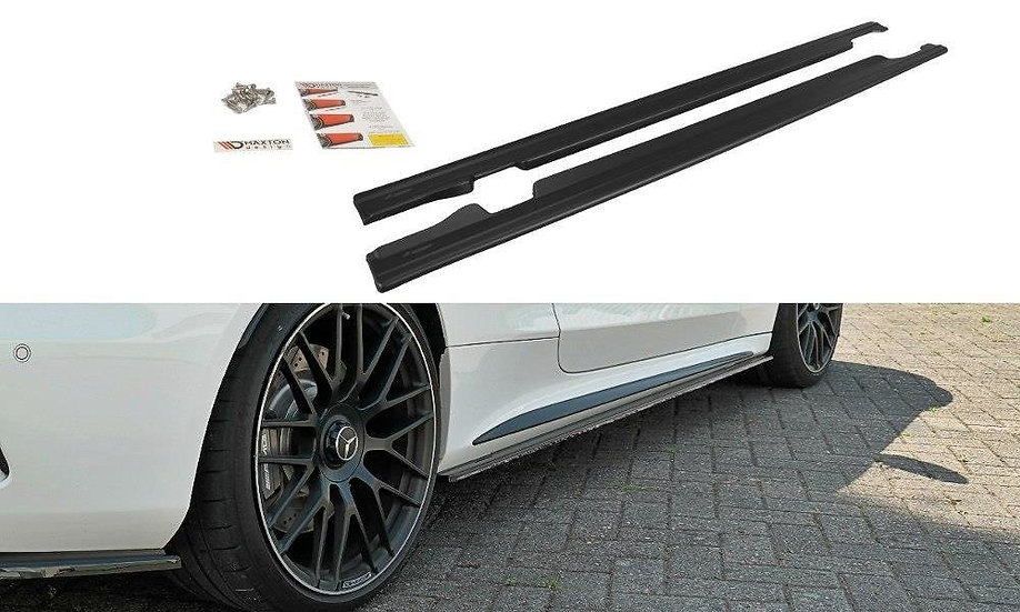MERCEDES C-CLASS C205 63AMG COUPE SIDE SKIRTS DIFFUSERS