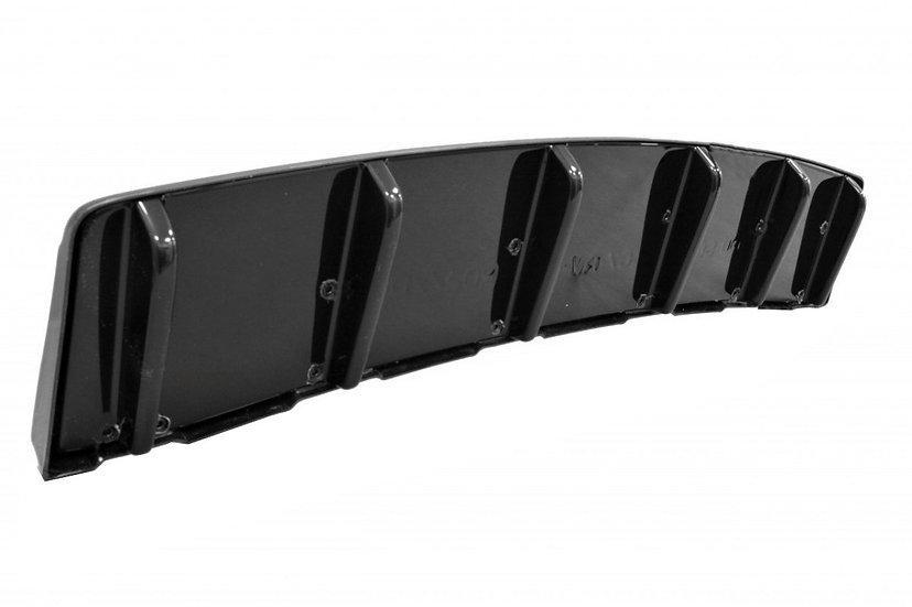 AUDI S6 C7 AVANT CENTRAL REAR SPLITTER  (WITH VERTICAL BARS)