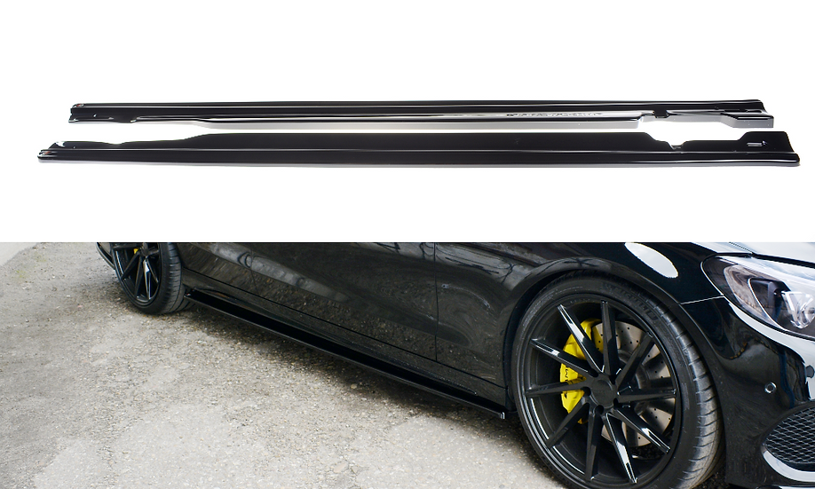 MERCEDES- BENZ C43 AMG W205 SIDE SKIRTS DIFFUSERS