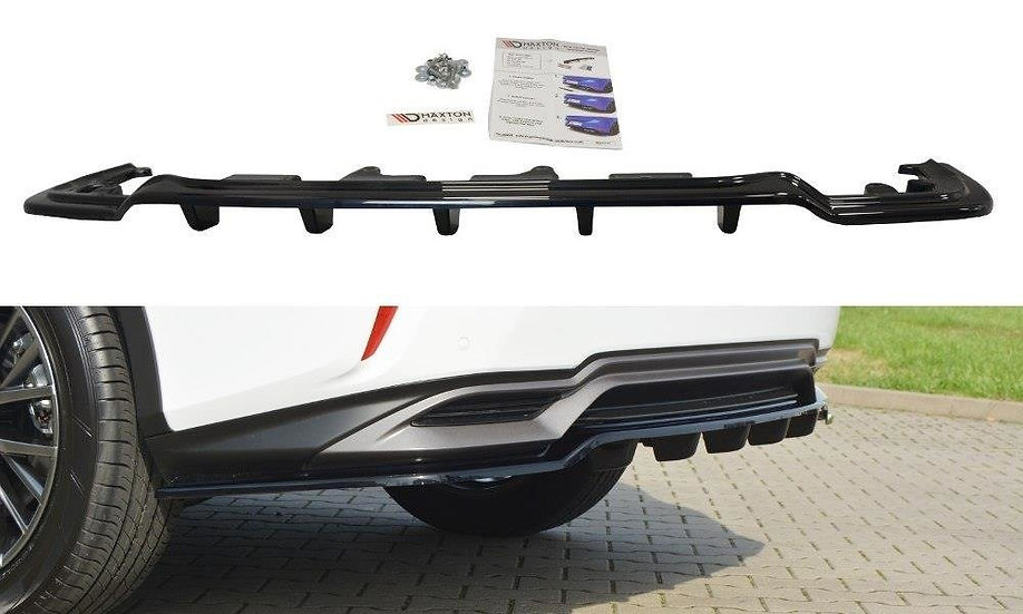 LEXUS RX MK4 H  CENTRAL REAR SPLITTER (WITH VERTICAL BARS)
