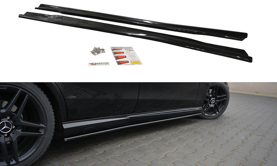MERCEDES-BENZ E63 AMG W212 SIDE SKIRTS DIFFUSERS