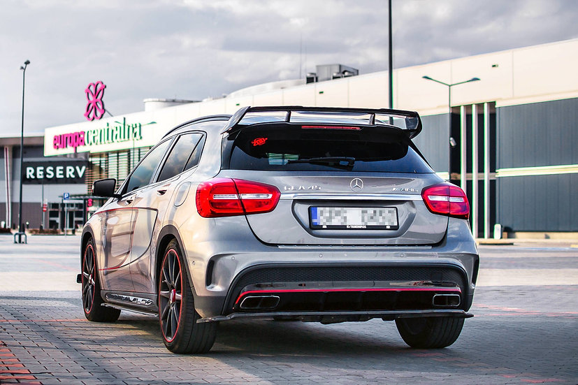 MERCEDES-BENZ GLA 45 AMG SUV (X156) CENTRAL REAR SPLITTER (WITH VERTICAL BARS)