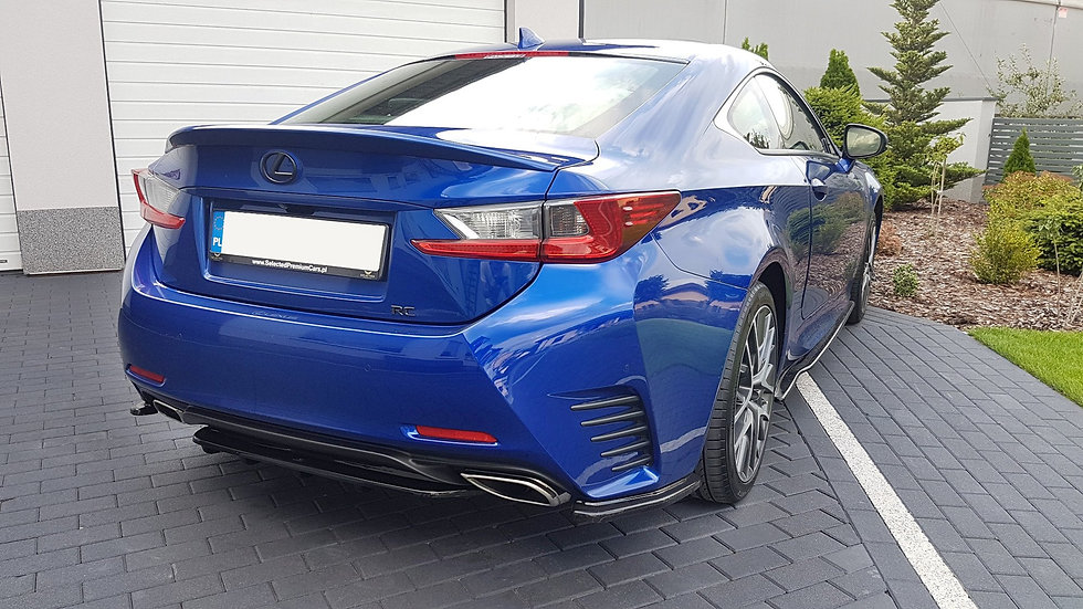 LEXUS RC REAR SIDE SPLITTERS
