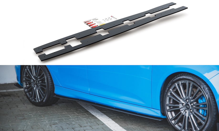 FORD FOCUS RS MK3 RACING DURABILITY SIDE SKIRTS DIFFUSERS