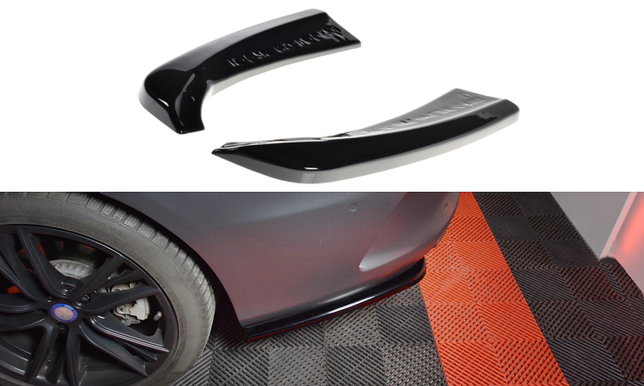 MERCEDES- BENZ C-CLASS W205 COUPE AMG-LINE REAR SIDE SPLITTERS