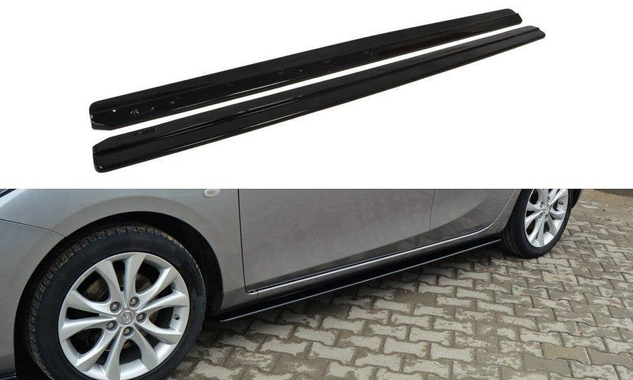 MAZDA 3 MK2 SPORT (PREFACE) SIDE SKIRTS DIFFUSERS