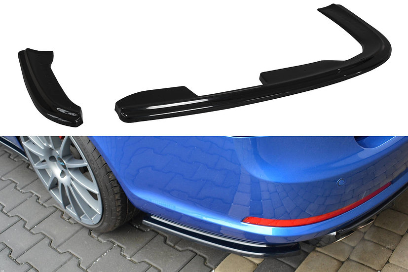 SKODA OCTAVIA RS MK2  MK2 FL REAR SIDE SPLITTERS