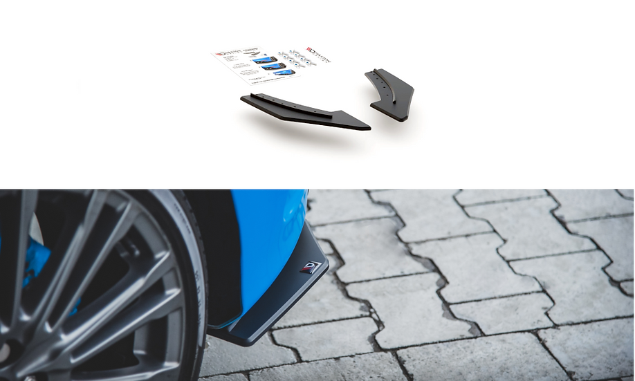 FORD FOCUS RS MK3 RACING DURABILITY REAR SIDE SPLITTERS