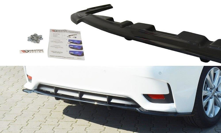 LEXUS CT MK1 FL CENTRAL REAR SPLITTER  (WITH VERTICAL BARS)