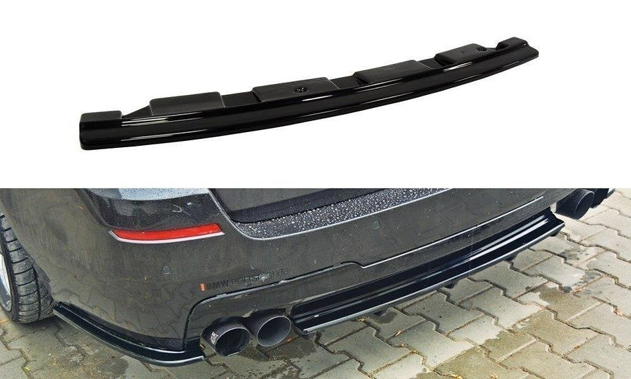 BMW 5 F11 M-PACK CENTRAL REAR SPLITTER - WITHOUT VERTICAL BARS (FITS TWO DOUBLE