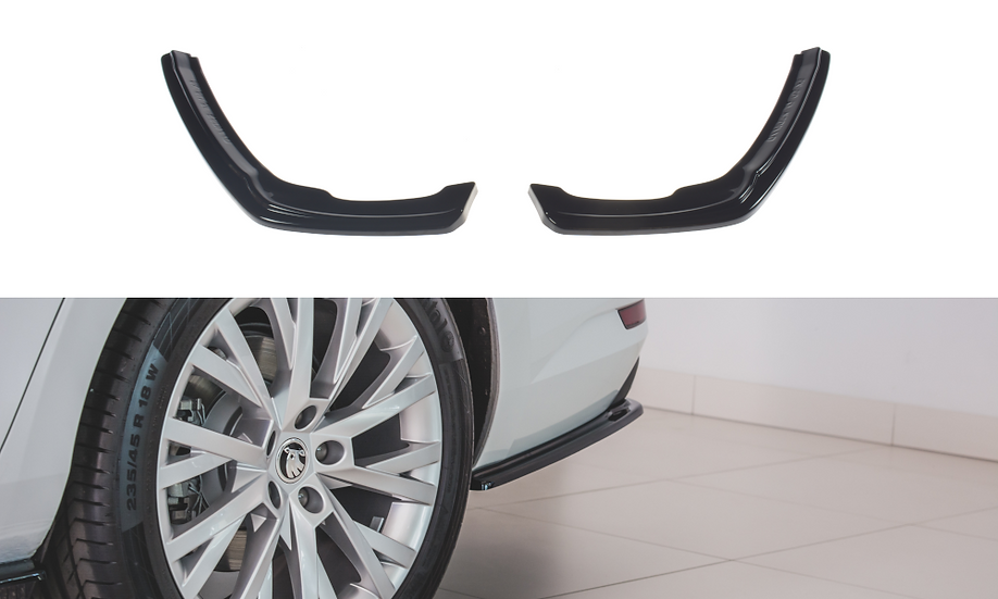 SKODA SUPERB MK3 FL REAR SIDE SPLITTERS