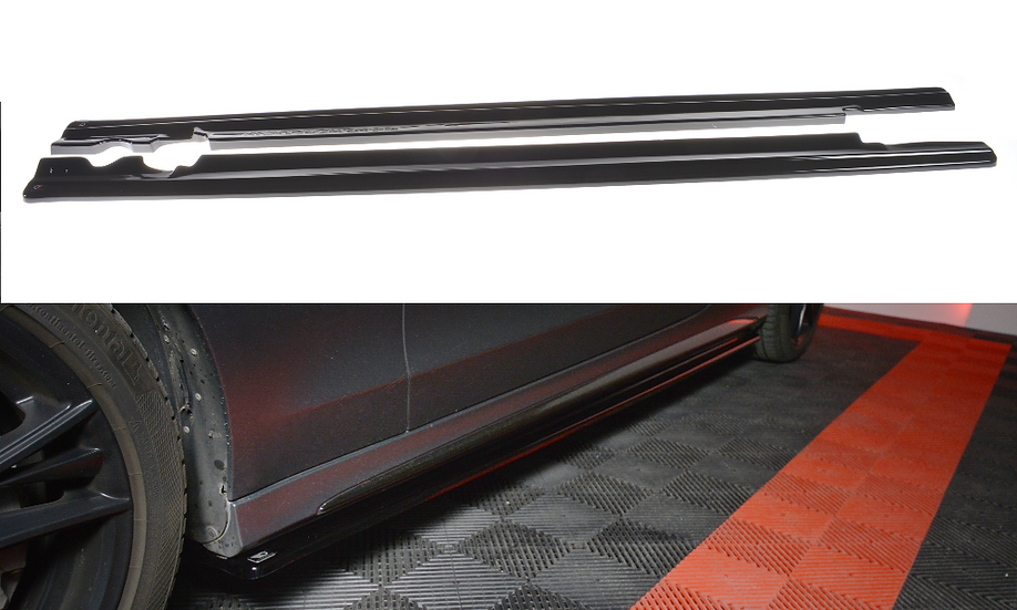 MERCEDES- BENZ C-CLASS W205 COUPE AMG-LINE SIDE SKIRTS DIFFUSERS