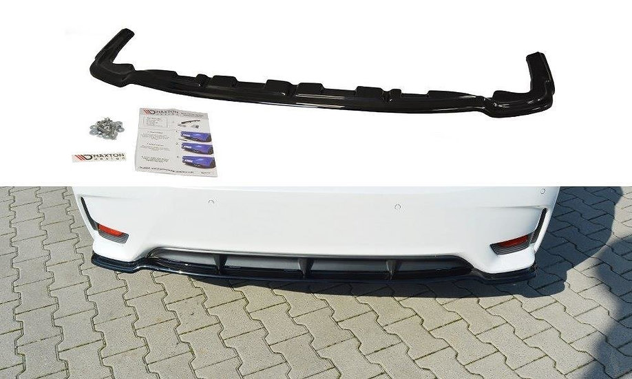 LEXUS CT MK1 FL CENTRAL REAR SPLITTER  (WITHOUT VERTICAL BARS)