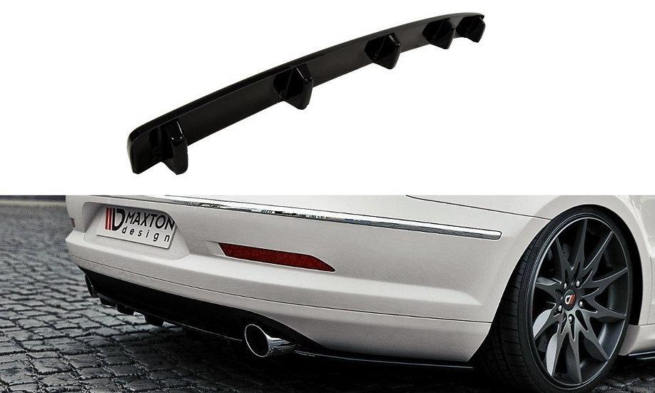 VW PASSAT CC R36 RLINE (PREFACE) CENTRAL REAR SPLITTER  (WITH VERTICAL BARS)