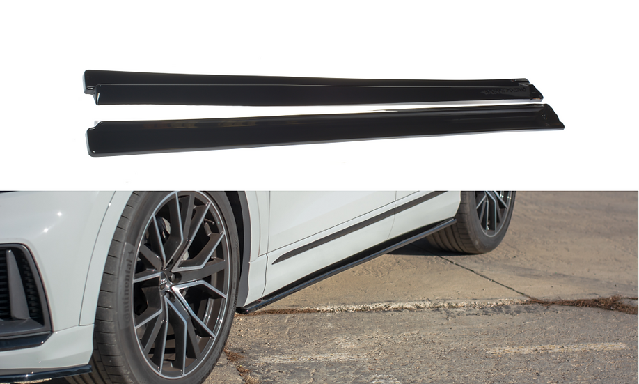 AUDI Q8 S-LINE SIDE SKIRTS DIFFUSERS