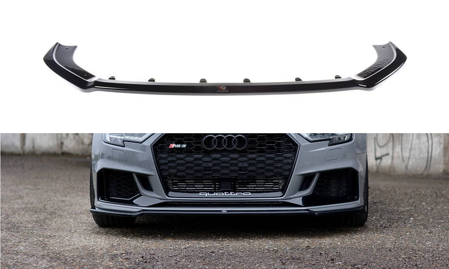 AUDI RS3 8V FL SEDAN FRONT SPLITTER V.2