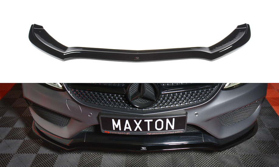 MERCEDES- BENZ C-CLASS W205 COUPE AMG-LINE FRONT SPLITTER V.1