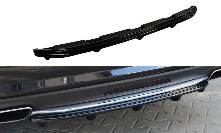 MERCEDES CLS C218 (WITH A VERTICAL BAR) AMG LINE CENTRAL REAR SPLITTER