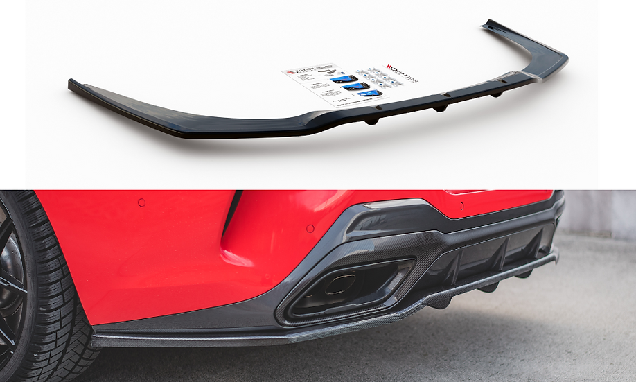 BMW M850I G15 CENTRAL REAR SPLITTER (WITH VERTICAL BARS)