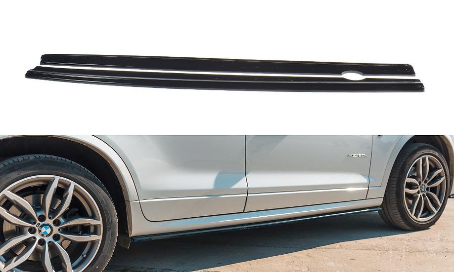 BMW X3 F25 M-PACK FL SIDE SKIRTS DIFFUSERS