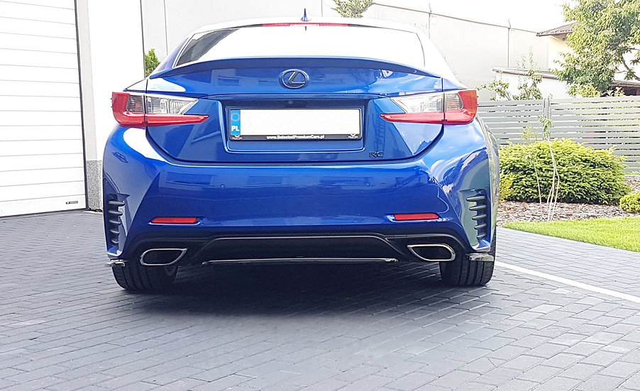 LEXUS RC CENTRAL REAR SPLITTER (WITHOUT VERTICAL BARS)