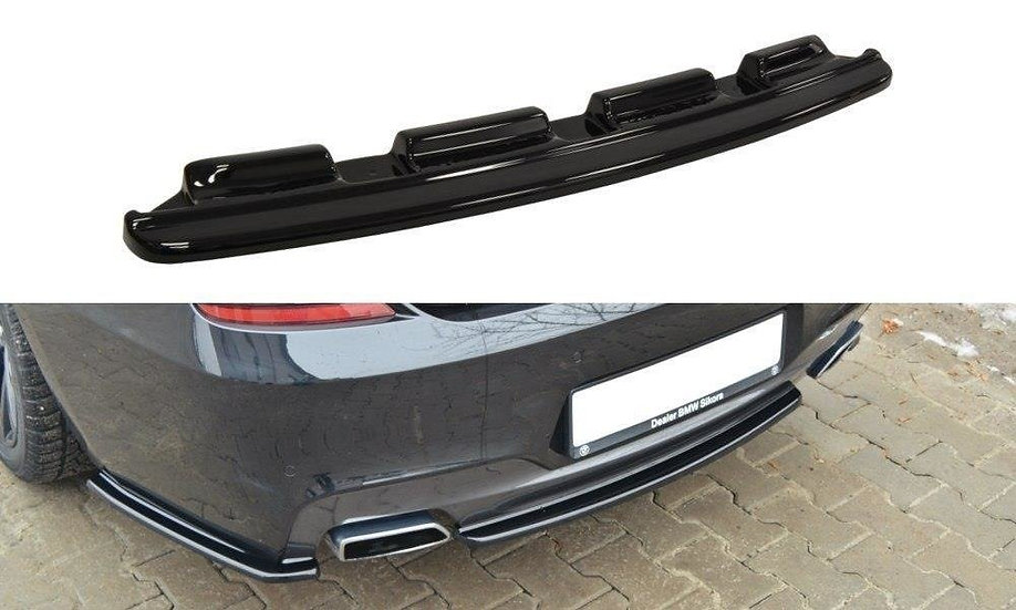 BMW 6 GRAN COUPÉ MPACK (WITHOUT VERTICAL BARS) CENTRAL REAR SPLITTER