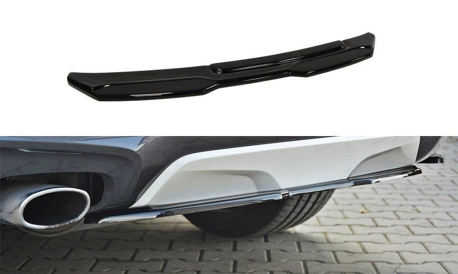 BMW X4 M-PACK (WITHOUT A VERTICAL BAR) CENTRAL REAR SPLITTER