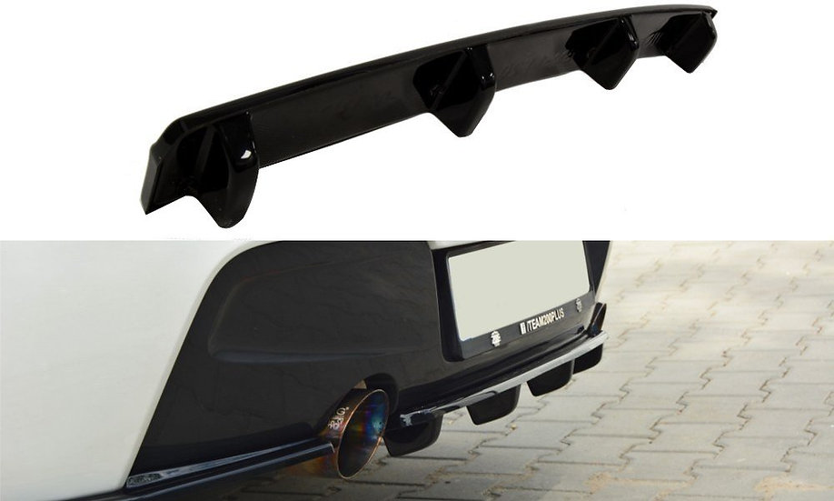 BMW 1 F20F21 M-POWER CENTRAL REAR SPLITTER  (WITH VERTICAL BARS)
