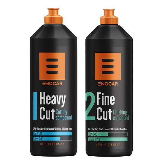 Ewocar Heavy Cut & Ewocar Fine Cut rinkinys 2 x 250ml
