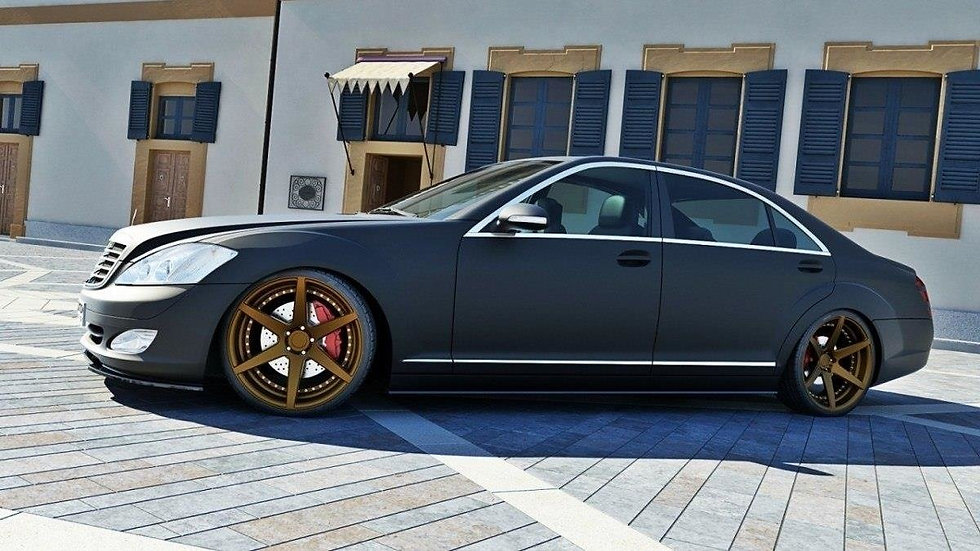 MERCEDES S-CLASS W221 SIDE SKIRTS DIFFUSERS