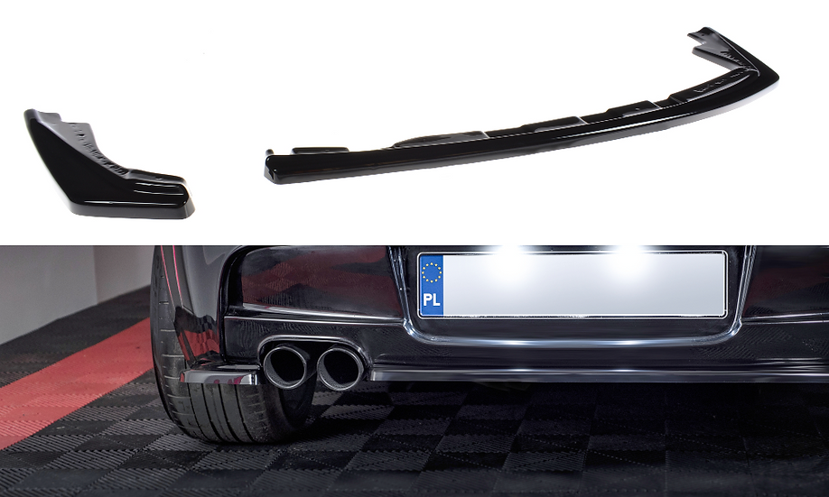 BMW 1 E81 E87 M-PACK FL CENTRAL REAR SPLITTER (WITHOUT VERTICAL BARS)