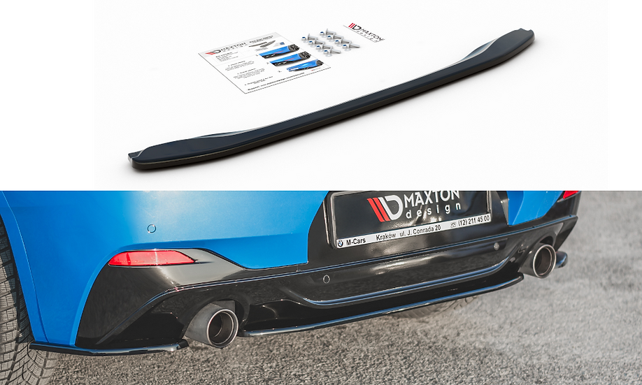 BMW X2 F39 M-PACK CENTRAL REAR SPLITTER