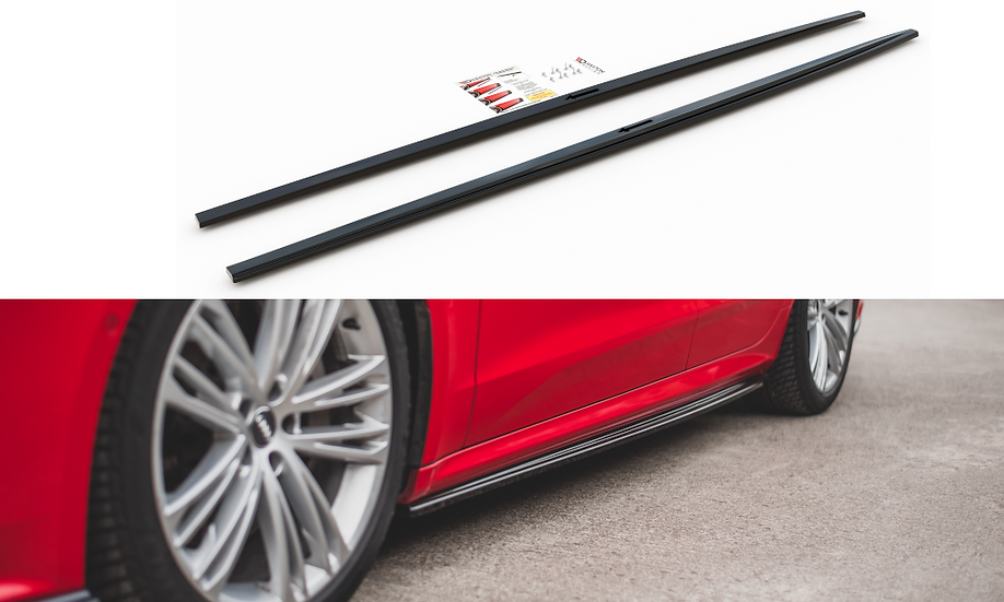 AUDI A7 C8 S-LINE SIDE SKIRTS DIFFUSERS