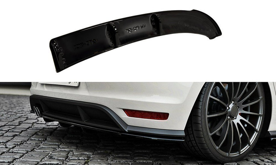 VW POLO MK5 GTI FACELIFT REAR SPLITTER  (WITH A VERTICAL BAR)