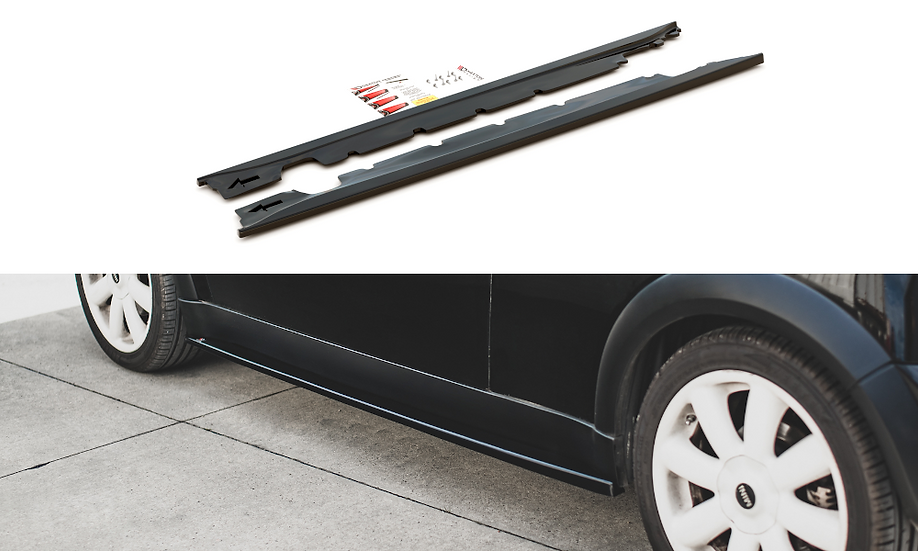 MINI COOPER  ONE R50 SIDE SKIRTS DIFFUSERS
