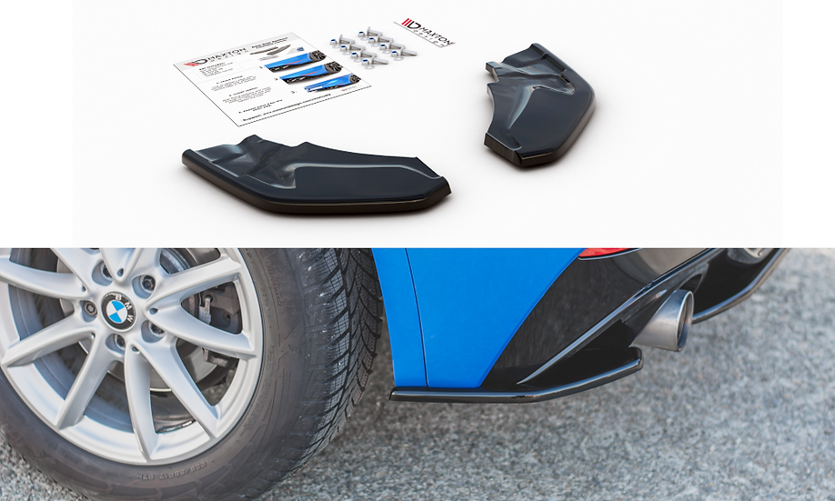 BMW X2 F39 M-PACK REAR SIDE SPLITTERS