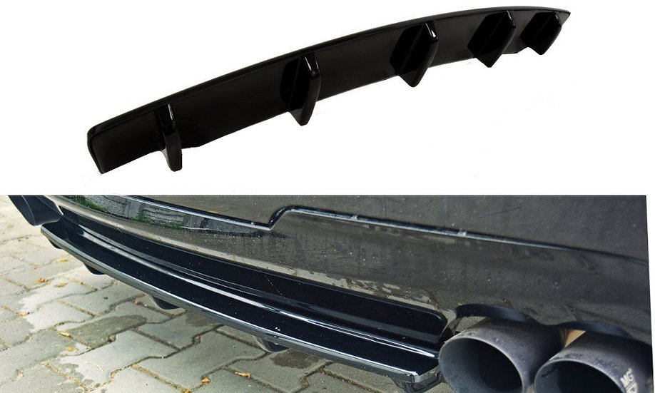 BMW 5 F11 M-PACK CENTRAL REAR SPLITTER  (FITS TWO DOUBLE EXHAUST ENDS)