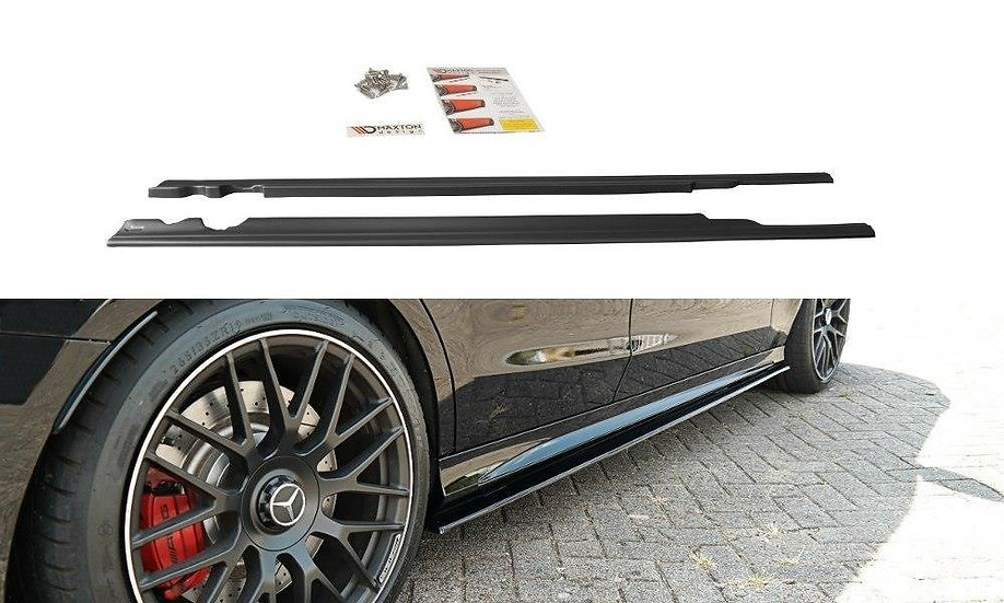 MERCEDES C-CLASS S205 63AMG ESTATE SIDE SKIRTS DIFFUSERS