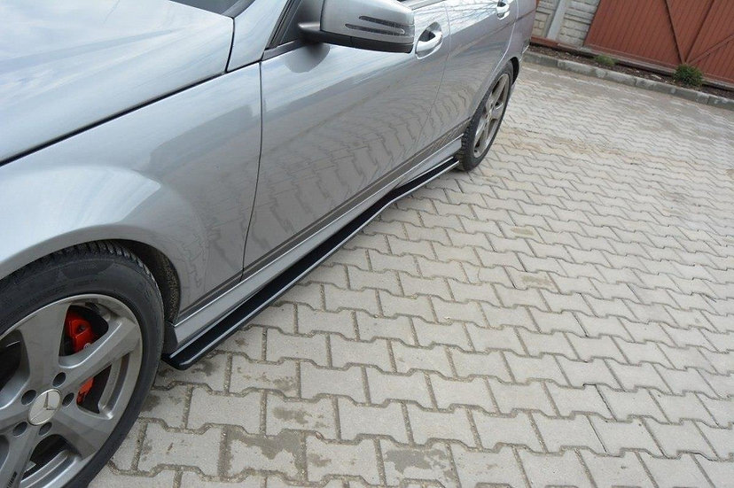 MERCEDES C W204 AMG-LINE (PREFACE) SIDE SKIRTS DIFFUSERS