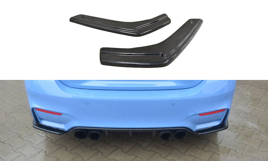 BMW M4 F82 REAR SIDE SPLITTERS
