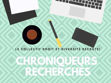 Appel de candidature: chroniqueurs recherchés pour l'année 2019-2020