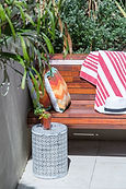 Outdoor bench seat Seawardz Accomodation Pacific Palms