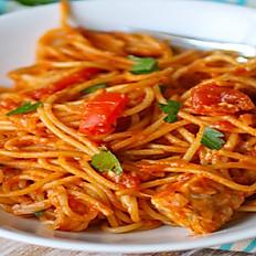 Spaghetti Bolognese met kip
