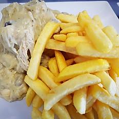 Vol-au-vent met frietjes