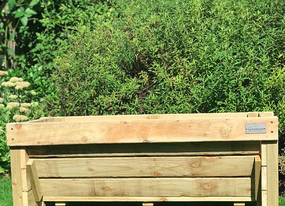 The Kids Rustic Veg Trough handmade wooden garden planter