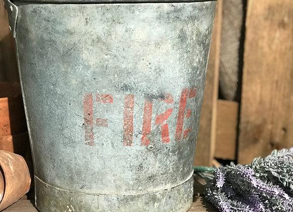 Vintage Fire Bucket unique garden flower pot