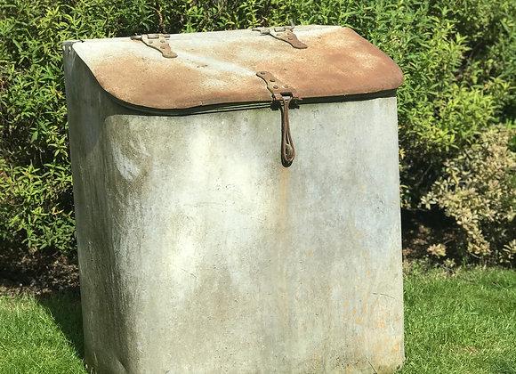 Galvanised Feed Bin vintage metal water butt