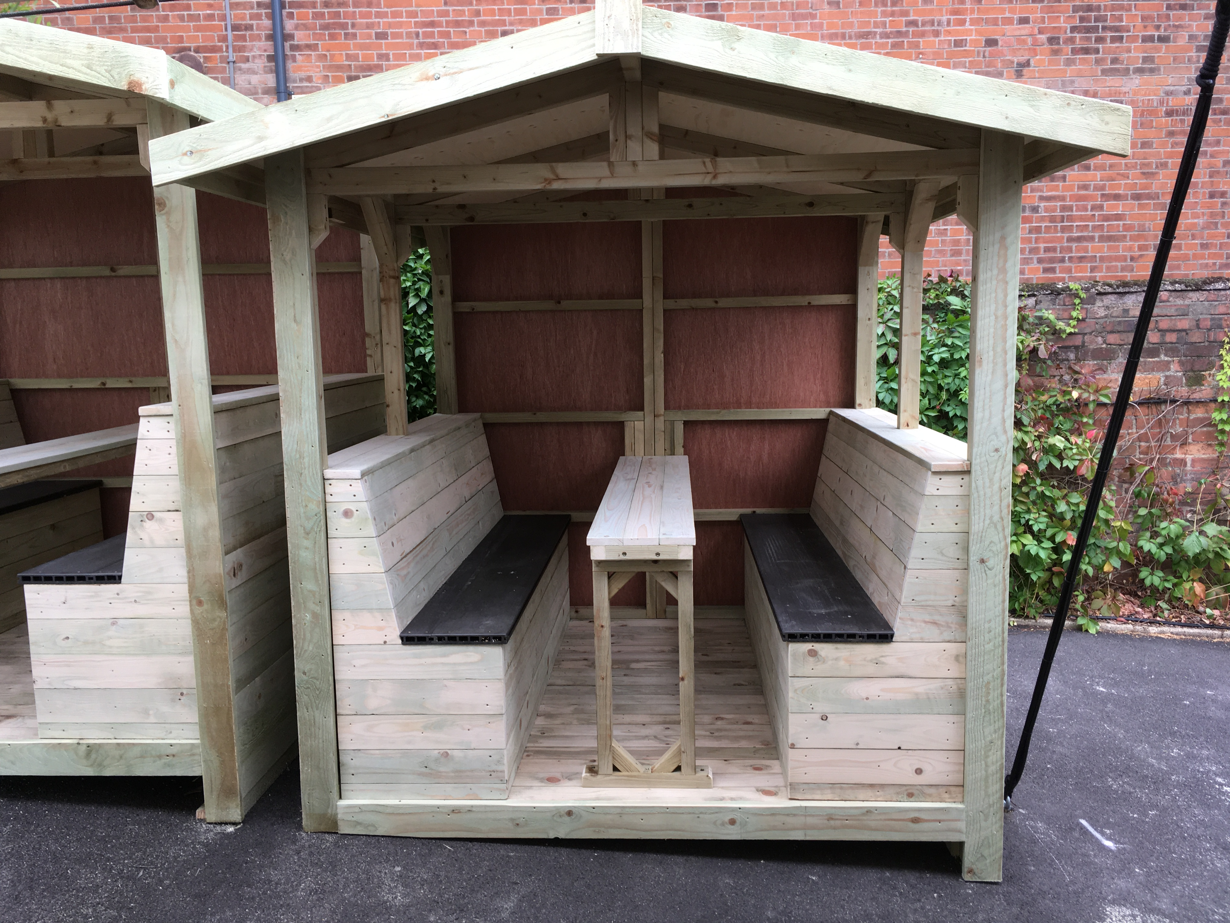 Bespoke wooden garden furniture
