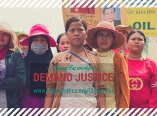 Soutenez les travailleuses de l'habillement du Cambodge: Marks & Spencer doit indemniser ! s