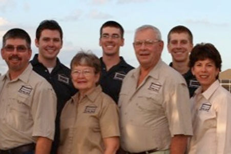 Jerry and Barbara Weber, founders of the comany with Bob, Nancy, Mike, Pat, Scott, Todd, and Craig